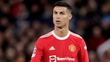 MANCHESTER, UNITED KINGDOM - SEPTEMBER 29: Cristiano Ronaldo of Manchester United  during the UEFA Champions League  match between Manchester United v Villarreal at the Old Trafford on September 29, 2021 in Manchester United Kingdom (Photo by David S. Bustamante/Soccrates/Getty Images)